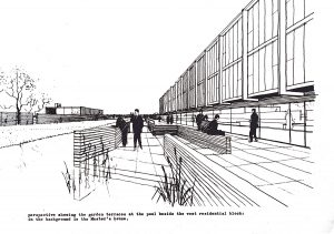 Jacobsen Line Drawing of the Moat area